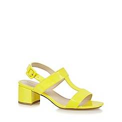 Red Herring - Yellow T-bar wide fit low sandals