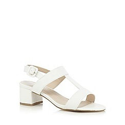 Red Herring - White t-bar wide fit low sandals