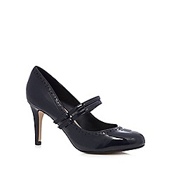 The Collection - Navy patent 'Mary-Jane' court shoes