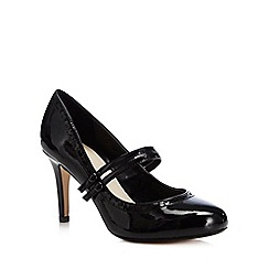The Collection - Black patent 'Mary-Jane' court shoes