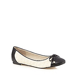 The Collection - Cream quilted pumps