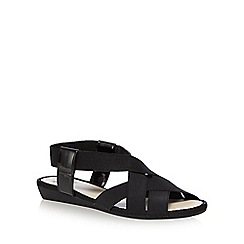 The Collection - Black cross over strap sandals