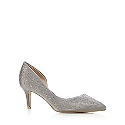 Debut - Dark grey studded court shoes
