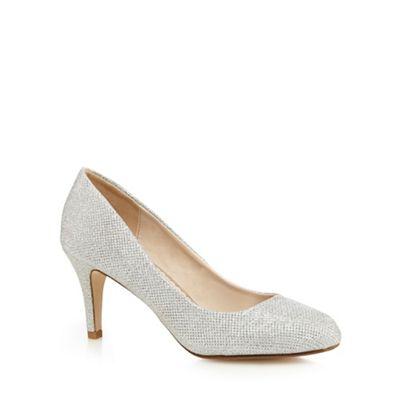 Debut Silver Glitter Dawson High Stiletto Heel Pointed Shoes