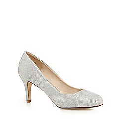 Debut - Silver glitter 'Dawson' high stiletto heel pointed shoes