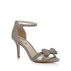 Debut - Silver glittery bow high heeled sandals