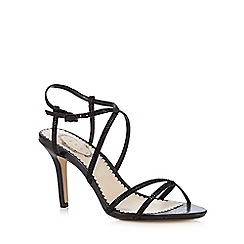 Debut - Black diamante embellished heeled sandals