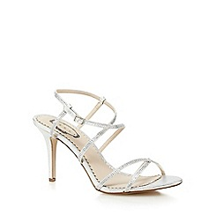 Debut - Silver diamante embellished heeled shoes