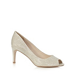 Debut - Gold peep toe heels