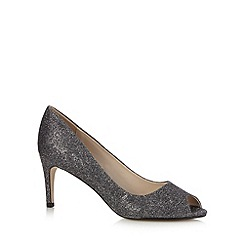Debut - Dark grey glittery heeled court shoes