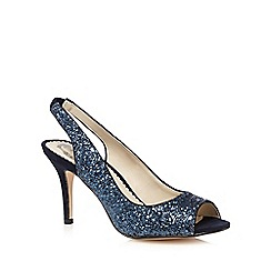 Debut - Blue glitter peep toe high heeled shoes