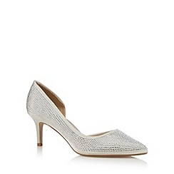 Debut - Ivory diamante embellished heels