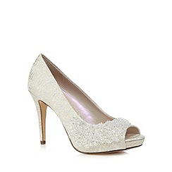 Debut - Ivory peep toe heeled shoes