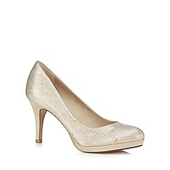 Debut - Gold glitter high court shoes