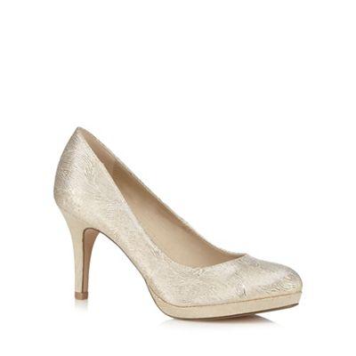 Womens black glitter evening shoes