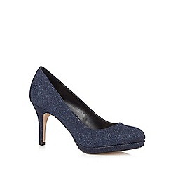 Debut - Navy glitter high court shoes