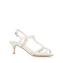 Debut - Silver glitter low sandals