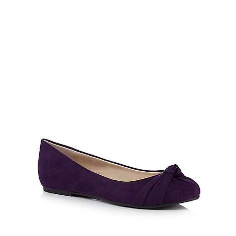 Good for the Sole - Purple knot detailed wide fit flat shoes