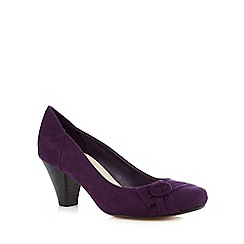 Good for the Sole - Purple buckle detail wide fit heels