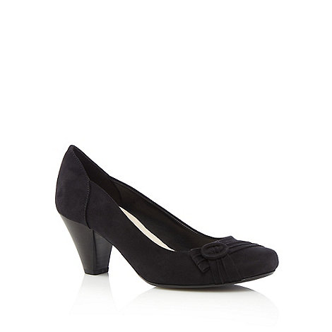 Good for the Sole - Black high heel wide fit court shoes