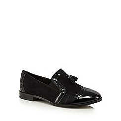 Good for the Sole - Black patent trim wide fit loafers