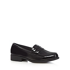 Good for the Sole - Black patent wide fit slip-on loafers