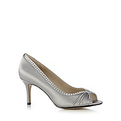 Debut - Silver studded mid heel shoes