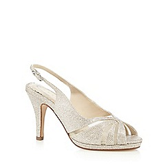 Debut - Gold mesh wide fit high sandals