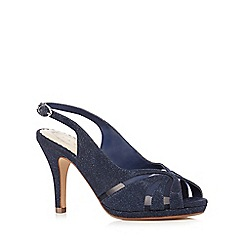Debut - Navy mesh wide fit high sandals