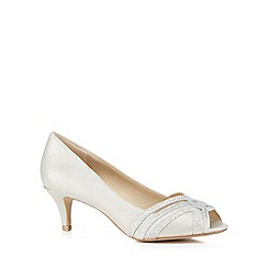 Debut - Silver glitter strap mid heel shoes