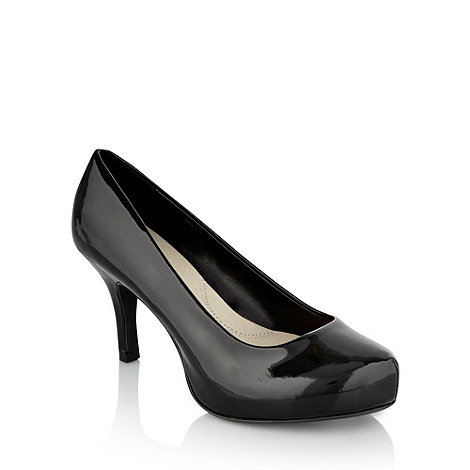 Good for the Sole - Black patent wide fit concealed platform courts