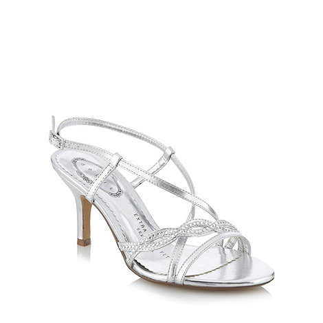 Debut - Silver multi strap studded sandals