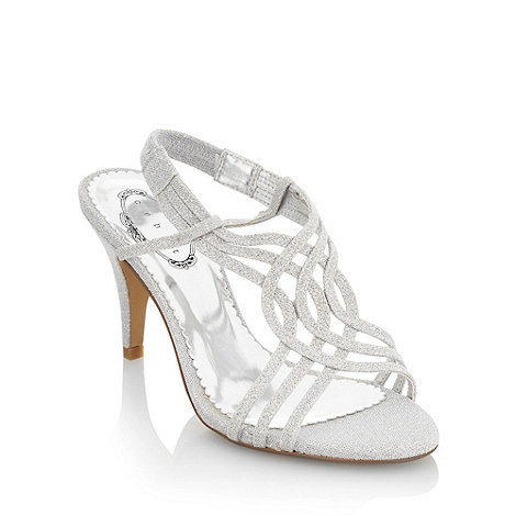 Debut - Silver cross over strap sandals