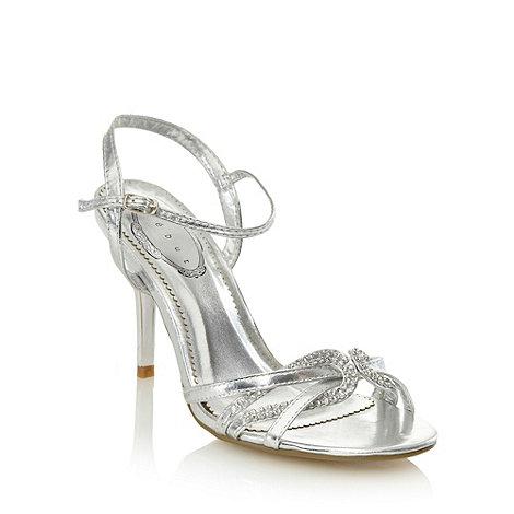 Debut - Silver diamantee strap sandals