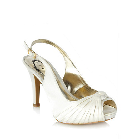 Debut - Ivory knotted satin high heel sandals