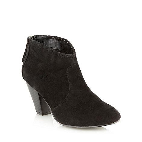 RJR.John Rocha - Black suede-look ankle boots