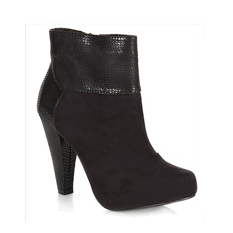 Principles by Ben de Lisi - Black snake panel ankle boots