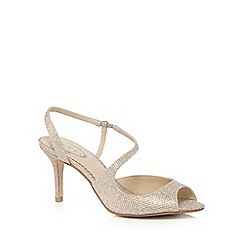 Debut - Gold glitter peep toe mid sandals