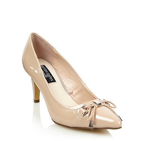 Principles by Ben de Lisi - Natural bow detail mid height heeled court shoes