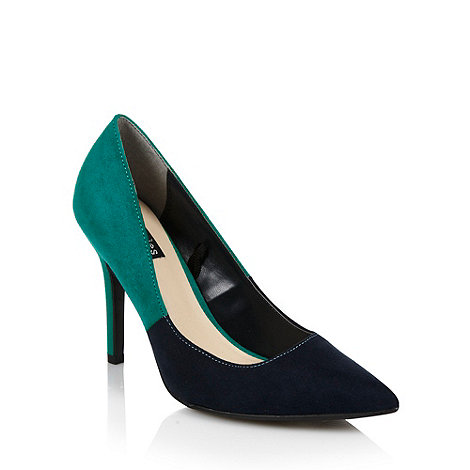 Principles by Ben de Lisi - Navy +eden+ two tone high heel court shoes