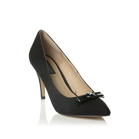 Principles by Ben de Lisi - Black patent bow pointed high court shoes