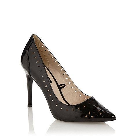 Principles by Ben de Lisi - Black +enya+ cutout patent court shoes