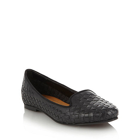 Betty Jackson.Black - Black woven leather pumps