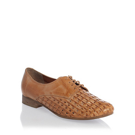 Betty Jackson.Black - Tan +vixen+ woven lace up shoes