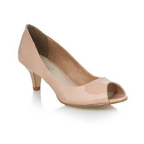 Red Herring - Beige patent peep toe courts