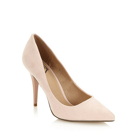 Red Herring - Pale pink pointed toe high court shoes - size 4