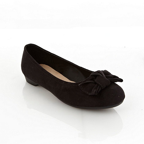 Good for the Sole - Black wide fit bow low pumps