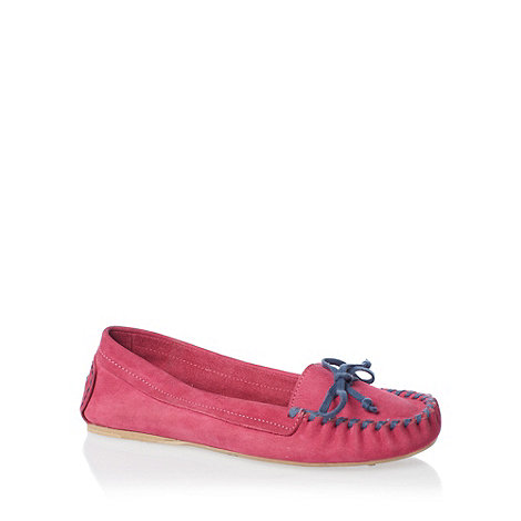 H! by Henry Holland - Pink +hillary+ whipstitch moccasins