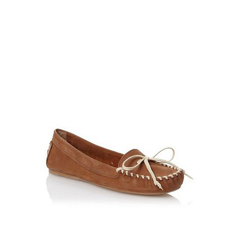 H! by Henry Holland - Tan stitch front moccasins