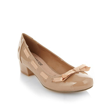 Good for the Sole - Natural wide fit mid heeled shoes